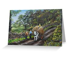 Bringing Home the Hay - Oil Painting Greeting Card