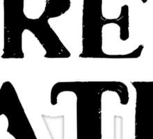 FREE BATES Sticker