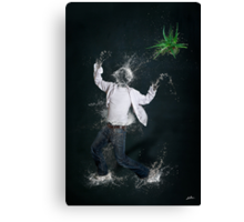 In the land of the Water Balloon People, Joe realized the instant the spikey plant was thrown that this would be his last practical joke. Canvas Print