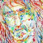 FRANK ZAPPA  watercolor portrait.2 by lautir