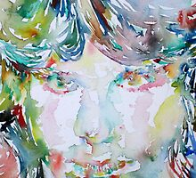 JIM MORRISON -watercolor portrait.3 by lautir