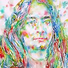 YOGANANDA - watercolor portrait by lautir