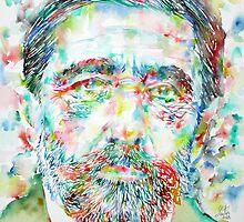 JOSEPH CONRAD - watercolor portrait by lautir