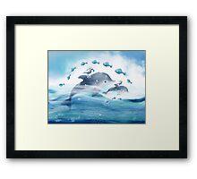Dolphin Love Framed Print