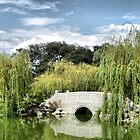 Bridge in Huntington LB Garden by Meeli Sonn