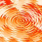 orange ripples - by Tessa by Janine Paris