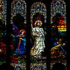 Beautiful stained glass widow of Jesus for your I-Pad by Brian D. Campbell