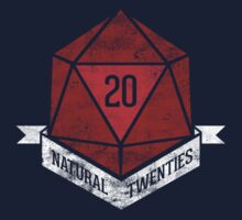Natural 20's (RED) by TeeKetch