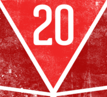 Natural 20's (RED) Sticker