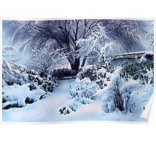 on a freshly fallen silent shroud of snow Poster