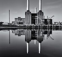 Battersea Power Station Mono by Stuart  Gennery