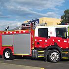 Morwell Firebrigade Truck - Gippsland by Bev Pascoe