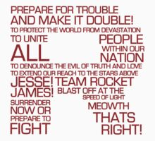 Team Rocket Motto Shirt Typography by RetroReview