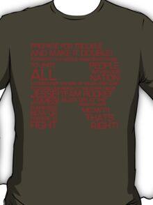 Team Rocket Motto Shirt Typography T-Shirt