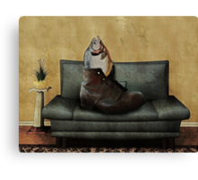 Therapy - Psychotherapeutic Sofa Sitting Hooey Canvas Print