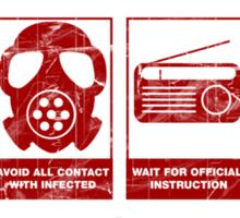 In Case Of Zombie Apocolypse Sticker