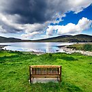 Bench in Mourne Mountains by Alessio Michelini