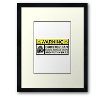 Dubstep Warning Framed Print