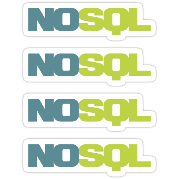 NoSQL ×4 by posx ★ $1.49 stickers
