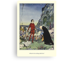 Old French Fairy Tales: What Are You Seeking Canvas Print