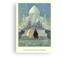 Old French Fairy Tales: They Walked Side by Side Canvas Print