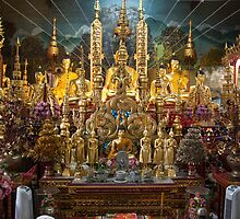 Buddhist Temple in Thailand by David R. Anderson