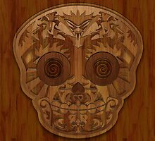 Wooden Sugar Skull by Joey Gates