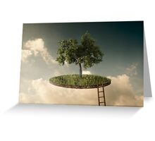 Suspended land Greeting Card