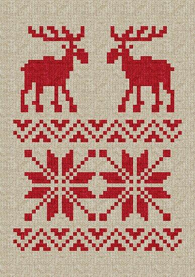 Moose Knitting Pattern :