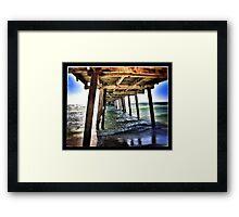 Under The Pier Framed Print