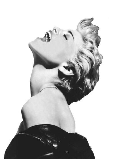 Madonna Pop Goddess (Enhanced Black & White Variation) by Ged J