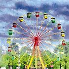 Ferris wheel painting by Magomed Magomedagaev
