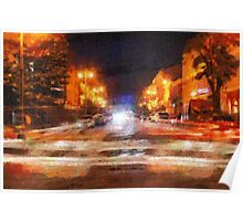 Night city painting Poster