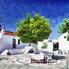 Tangerine tree painting by Magomed Magomedagaev