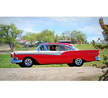 Prom Chariot...57 Ford Fairlane 500 Photographic Print