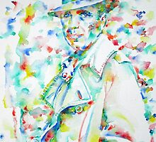 HUMPHREY BOGART - watercolor portrait by lautir