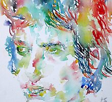 BOB DYLAN - WATERCOLOR PORTRAIT.2 by lautir