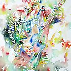 BRUCE SPRINGSTEEN PLAYING the GUITAR - watercolor portrait.1 by lautir