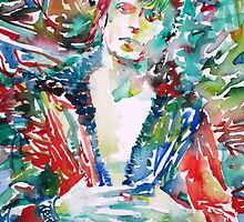 DAVID BOWIE - watercolor portrait.3 by lautir