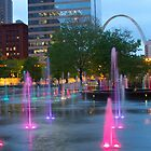 St Louis Arch City Garden  by L2Photography