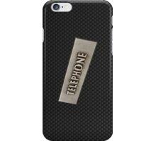 CARBON FIBER TELEPHONE. iPhone Case/Skin