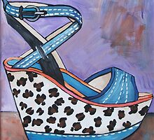 Cheetah Print Wedge by Arts4U
