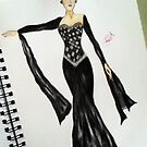 Elegant evening gown by EddieRay2013