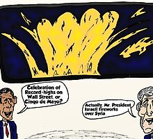 Israel in Syria Kerry Obama Political Cartoon by Binary-Options
