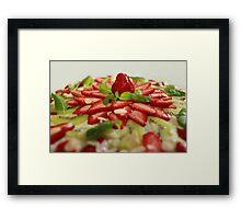 strawberry cake Framed Print