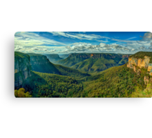 Majesty - Govetts Leap, Blackheath NSW, Blue Mountains World Heritage Area - The HDR Experience Canvas Print