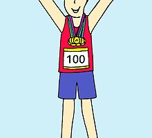 100th marathon for a man. by KateTaylor