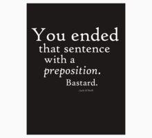 Preposition Black on White by CaelisMiran