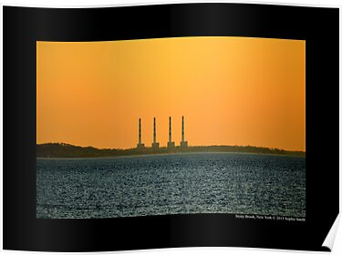 National Grid Power Plant Chimneys - Asharoken, New York  by © Sophie W. Smith