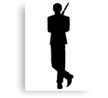 Bond Icon Tee Canvas Print